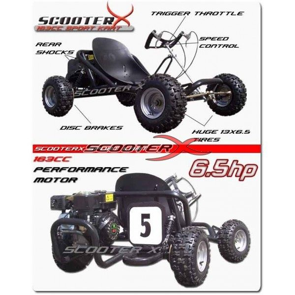 Scooterx California go kart 6.5HP off road kart