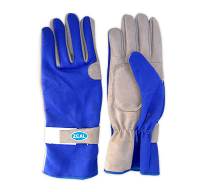 Zeal Race Kart Gloves blue/grey