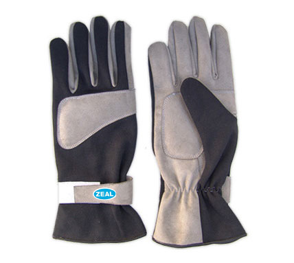 Zeal Race Kart Gloves black/grey
