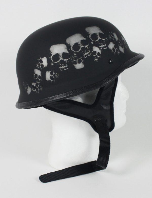 103SP - DOT German Skull Pile Motorcycle Helmet