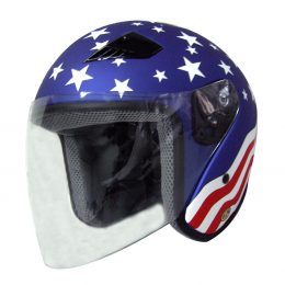 RK5A - America DOT Motorcycle Helmet RK-5 Open Face with Flip Shield