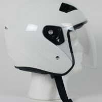 RK5W - DOT Motorcycle Helmet RK-5 Open Face with Flip Shield