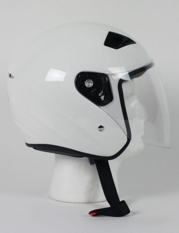 RK5W - DOT Motorcycle Helmet RK-5 Open Face with Flip Shield