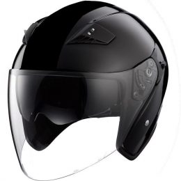 RK6B - Black DOT Motorcycle Helmet RK-6 Open Face with 2 Shields