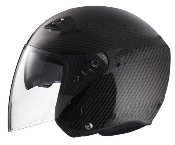 RK6C - Carbon Fiber DOT Motorcycle Helmet RK-6 Open Face with 2 Shields
