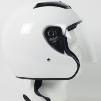 RKW - DOT Motorcycle Helmet RK-4 Open Face with Flip Shield