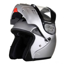 SNOWS - DOT Full Face Gloss Modular Snowmobile Helmet