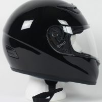 RZ80B - DOT Full Face Gloss Black Motorcycle Helmet