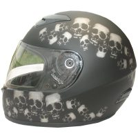 RZ80SP - DOT Full Face Skull Pile Motorcycle Helmet