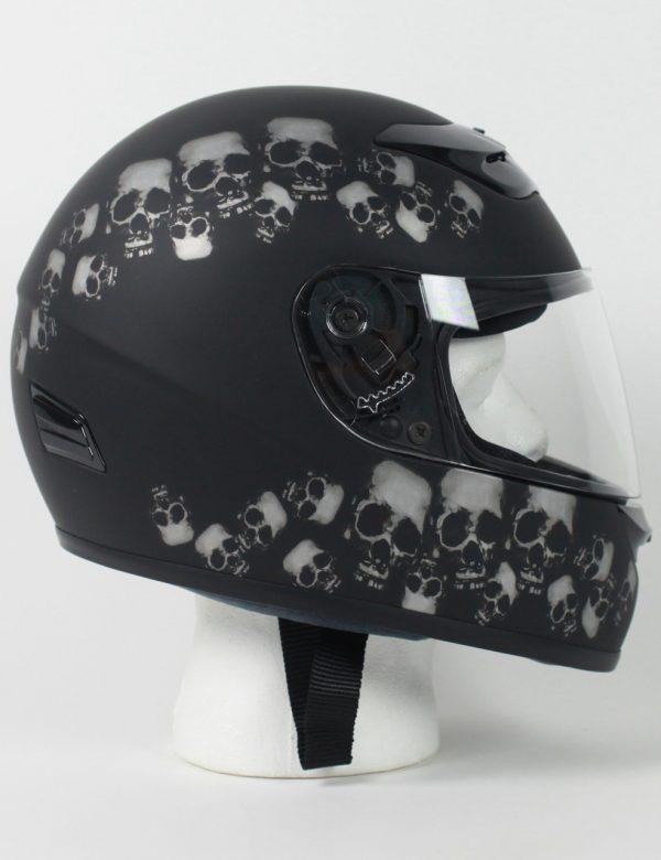 RZ80SP - DOT Full Face Skull Pile Motorcycle Helmet