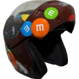 MODMM - M&M Licensed Full Face Brown Motorcycle Helmet