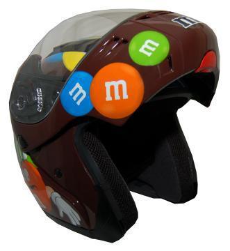 MODMM - M&M Licensed Full Face Brown Motorcycle Helmet