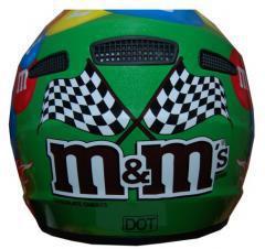 M&M Licensed MotoX Motorcycle Helmet