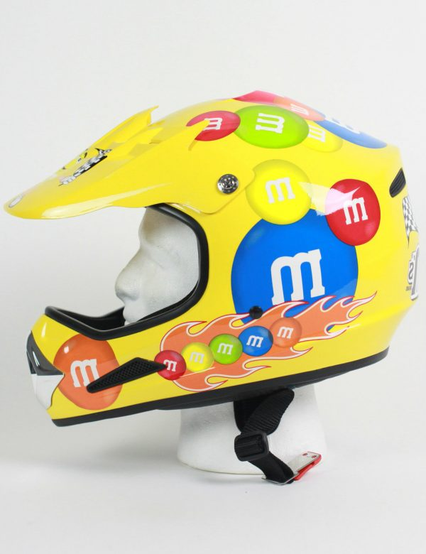 M&M Licensed MotoX Motorcycle Helmet