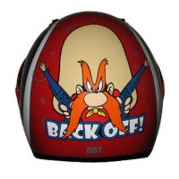 Yosemite Sam RZ3K Back Off Licensed Kids Full Face Motorcycle Helmet